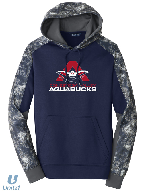 CV Aquabucks Sport-Wick Colorblock Hooded Pullover