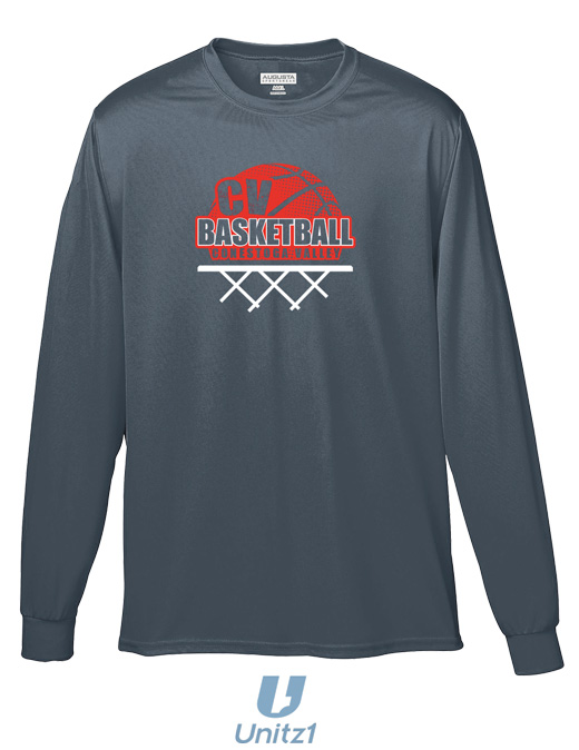 CV Basketball Long Sleeve Wicking Tee