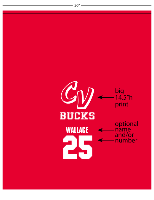 CV Bucks Sweatshirt Blanket
