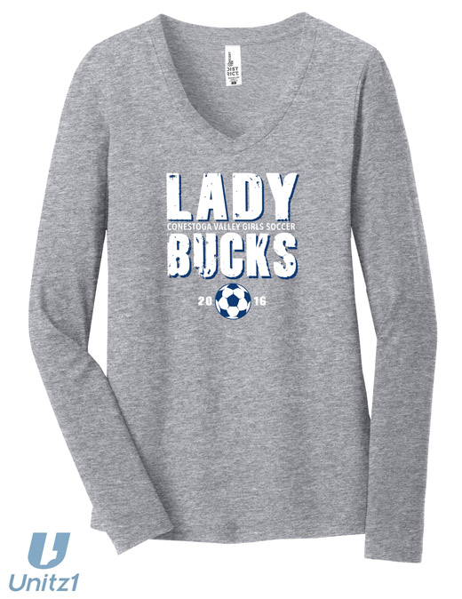 CV Girls Soccer V-Neck Long Sleeve