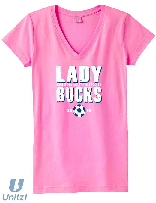 CV Girls Soccer Ladies V-Neck