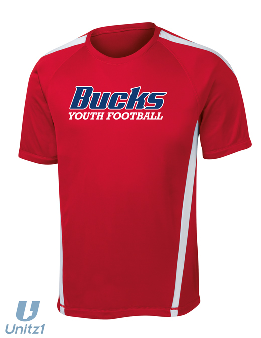 CV Youth Football Colorblock Tee
