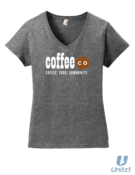 Coffee Co Ladies V-Neck T-Shirt