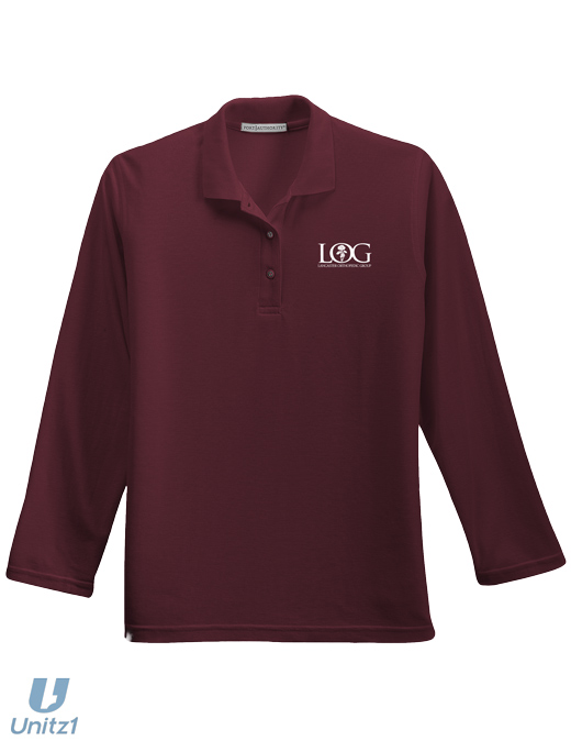 LOG Ladies' Long Sleeve Polo