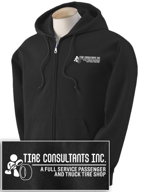 Tire Consultants Full-zip Hooded Sweatshirt