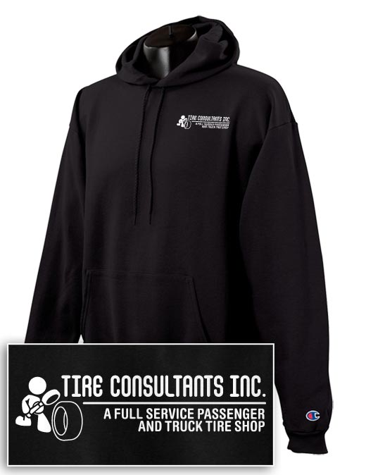 Tire Consultants 9 oz. Hooded Sweatshirt
