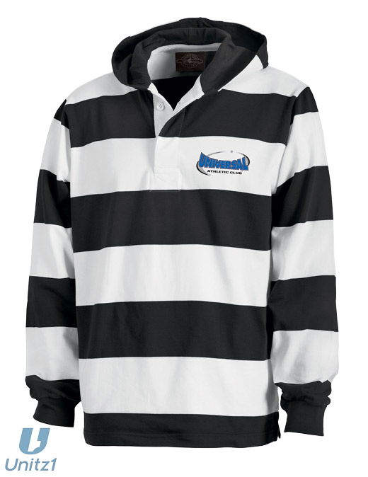 Universal Hooded Rugby Pullover