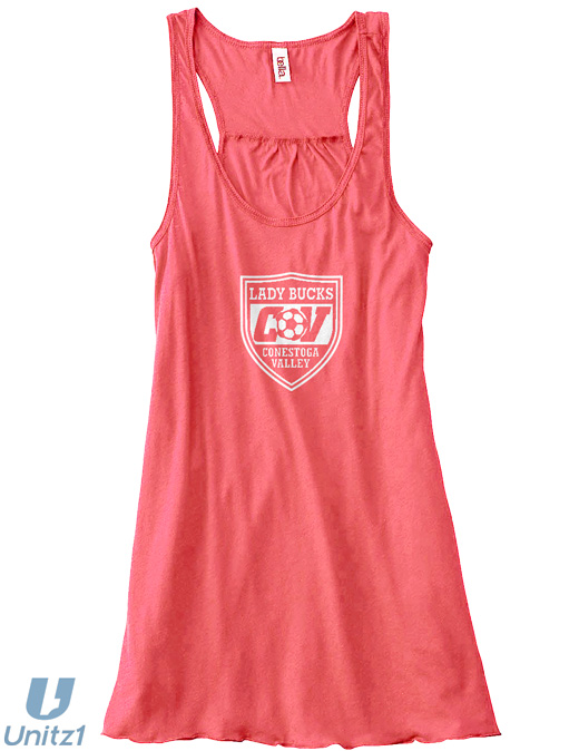 Lady Bucks Shield Flowy Racerback Tank